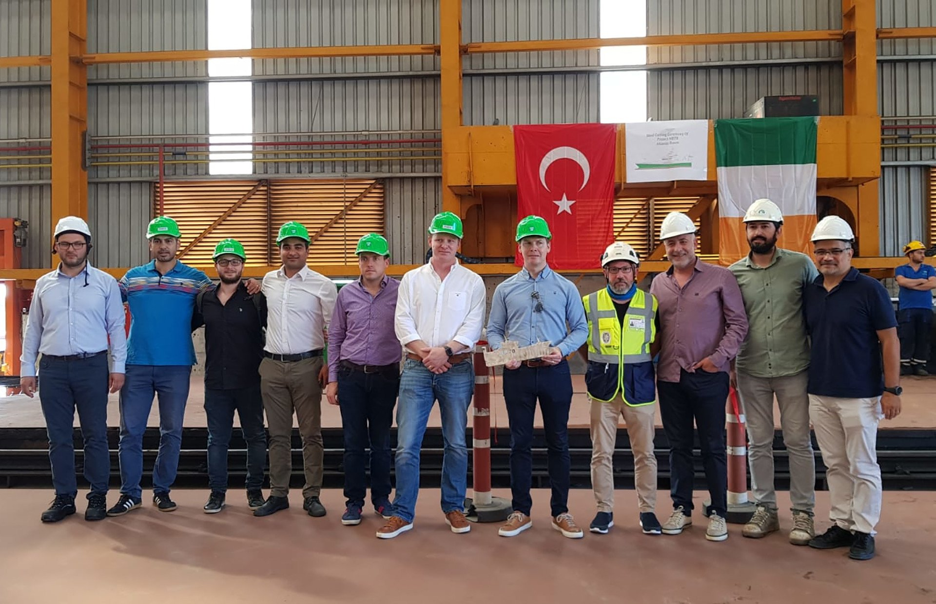 The First Steel-Cutting of NB70 Leila Has Started!