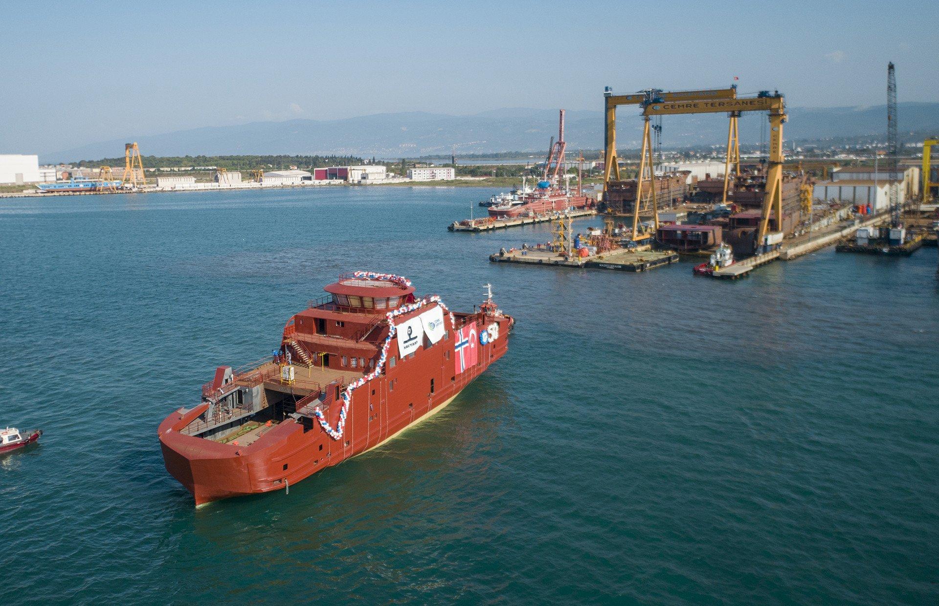 SMØLA - Havyard'ın 50. Gemisi Suya İndirildi!