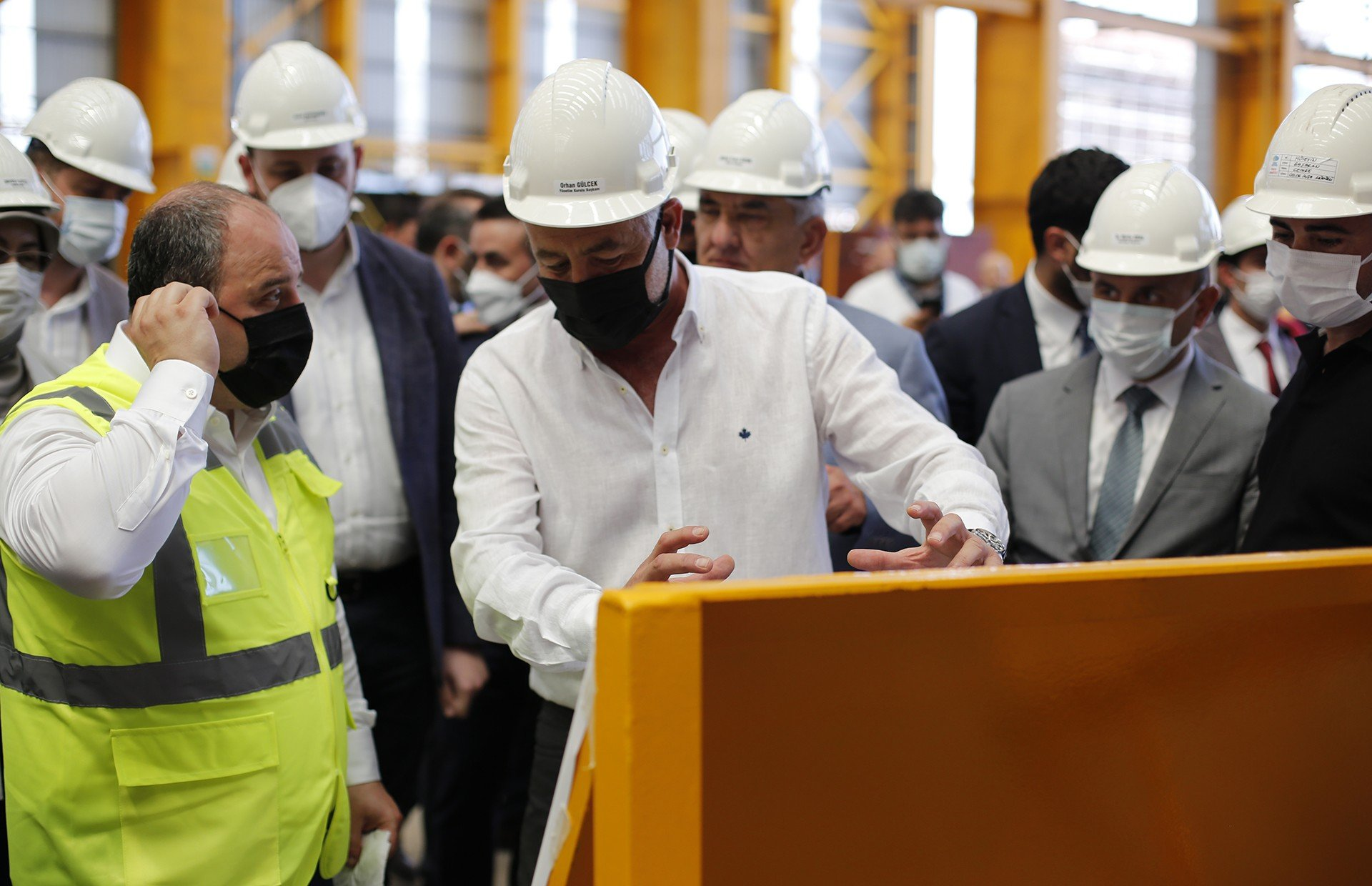 Minister of Technology and Industry Mustafa Varank is at Cemre Shipyard!