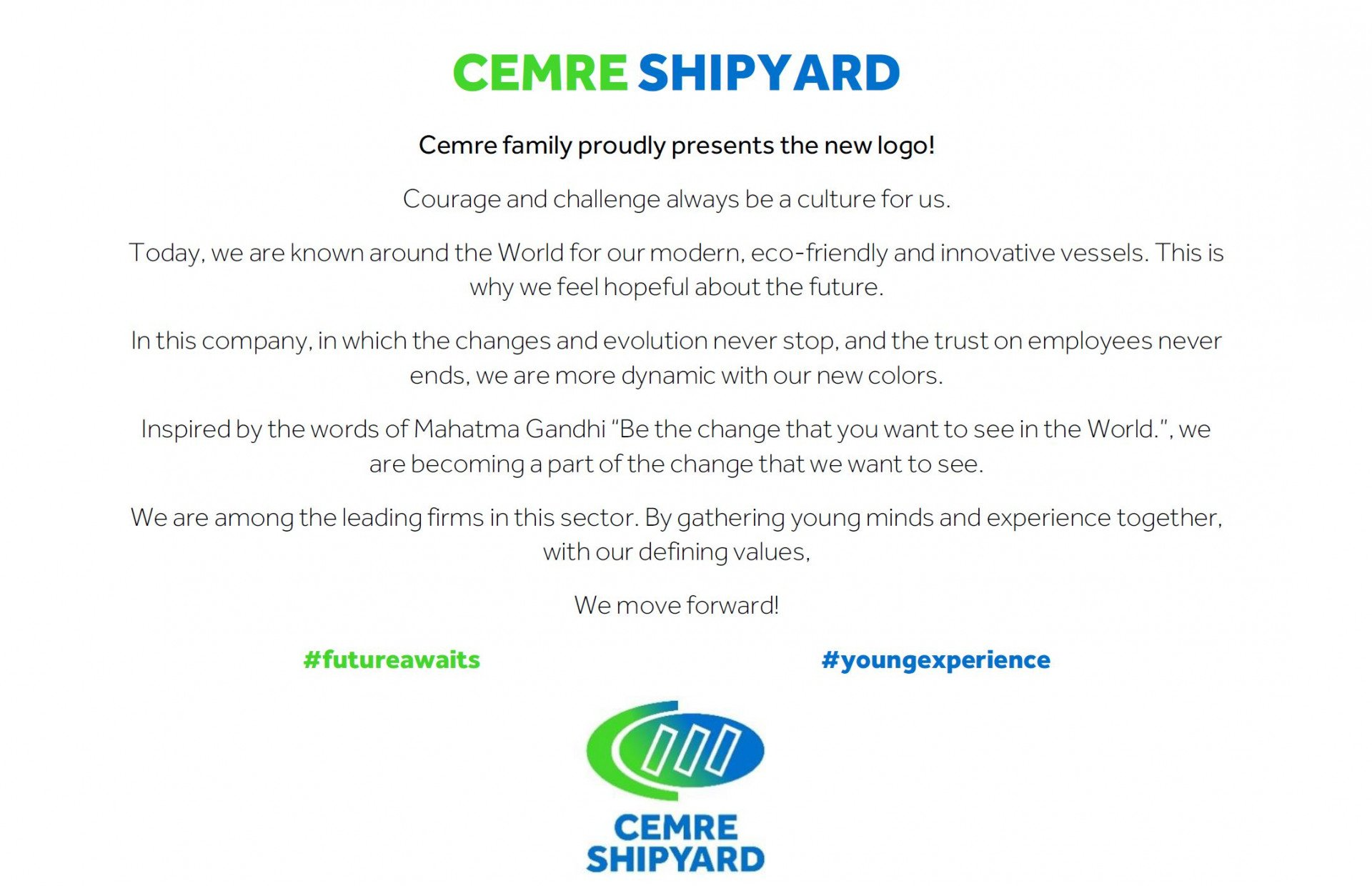 Cemre Presents the New Logo