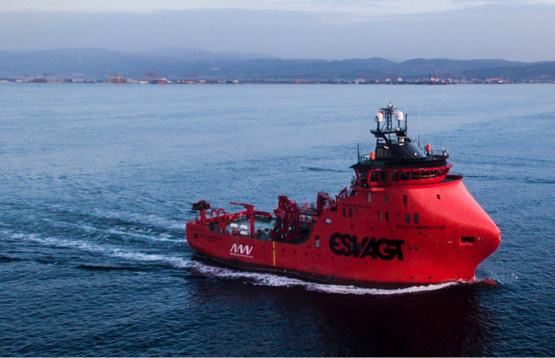 Windfarm Service Vessel is going to her homeport!