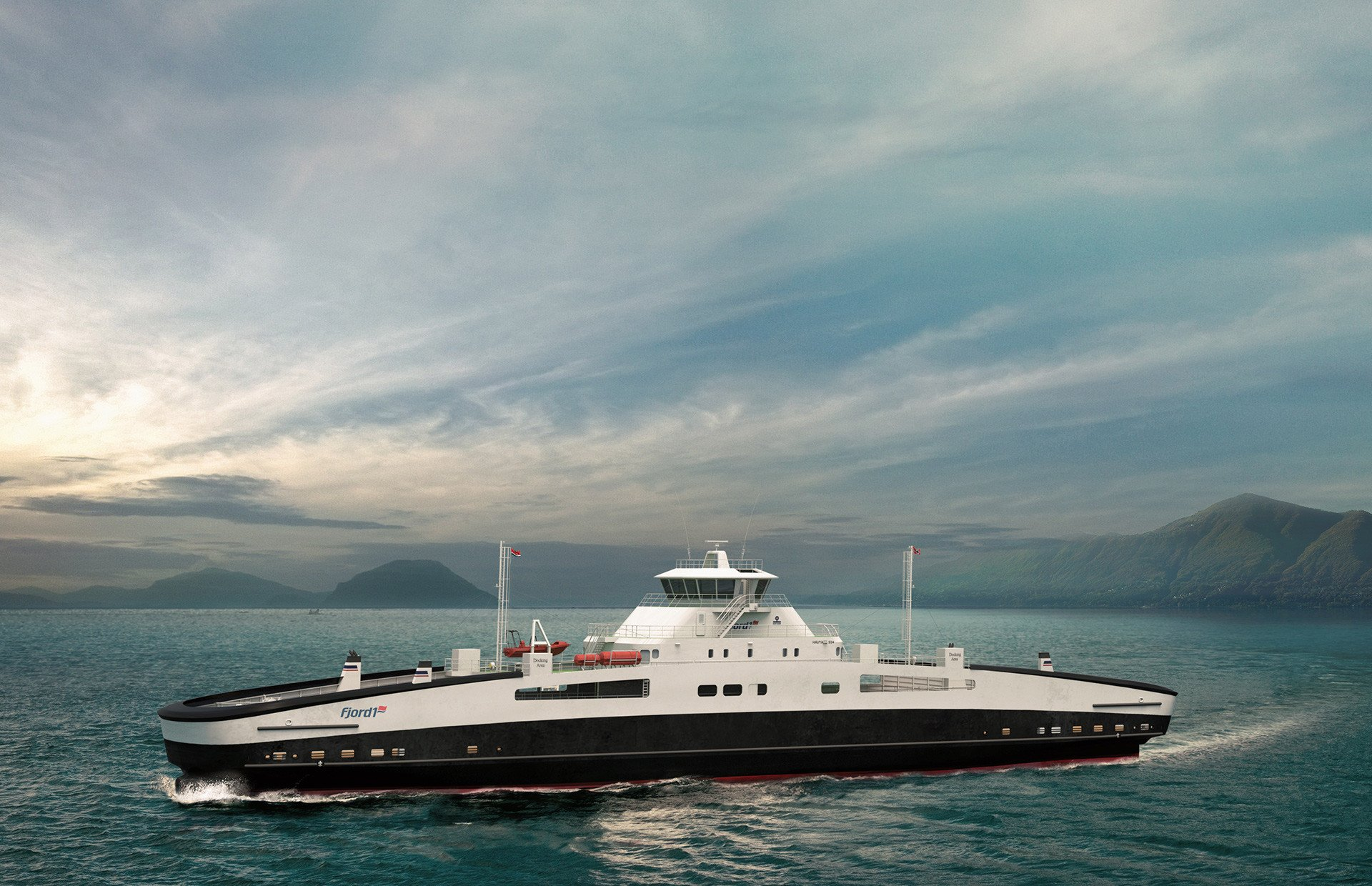 Two full electric driven ferry contracts are signed with Fjord1 !