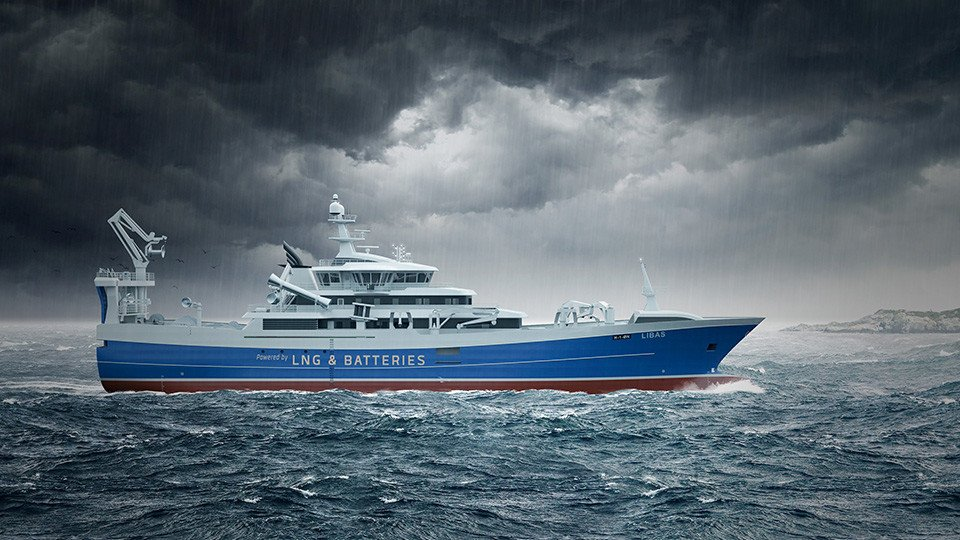 The World's First Battery & LNG-fuelled Purse Seiner/Trawler in Cemre!