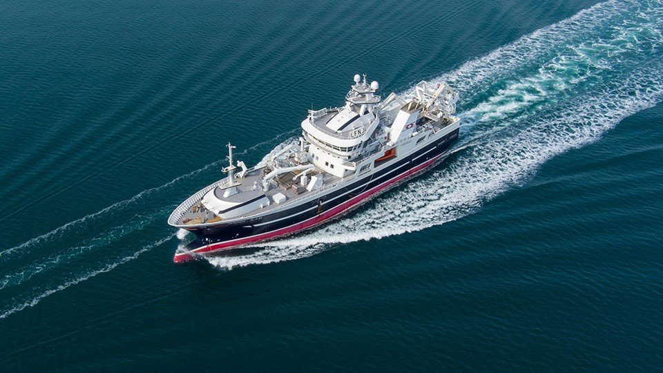 Purse Seiner/Trawler  NB65 Hardhaus is  Delivered to Her Home Port, Norway.