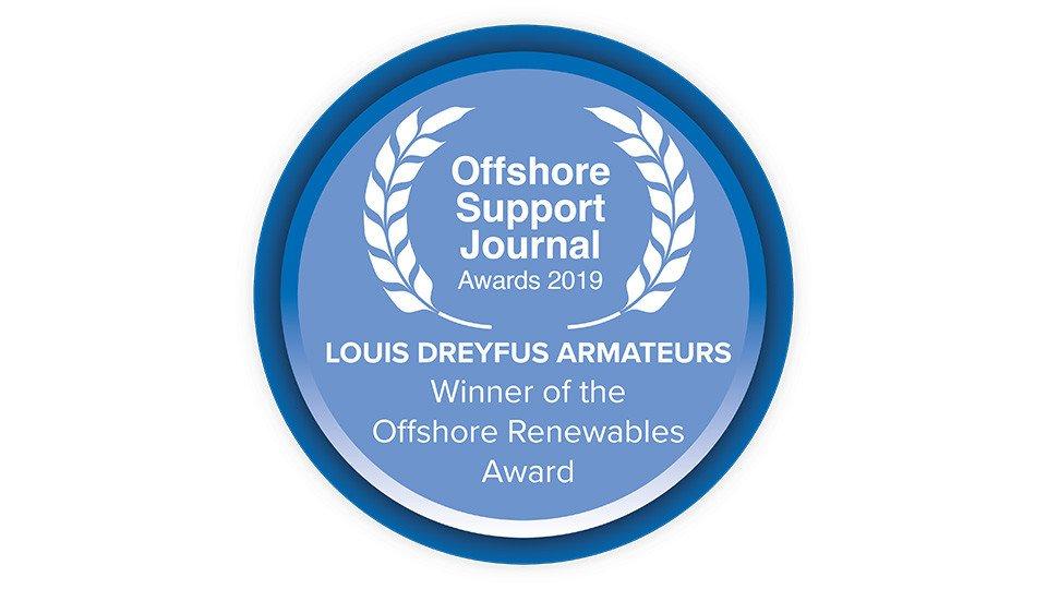 OSJ 2019 Offshore Yenilenebilirlik Ödülü Sahibi Wind of Change!